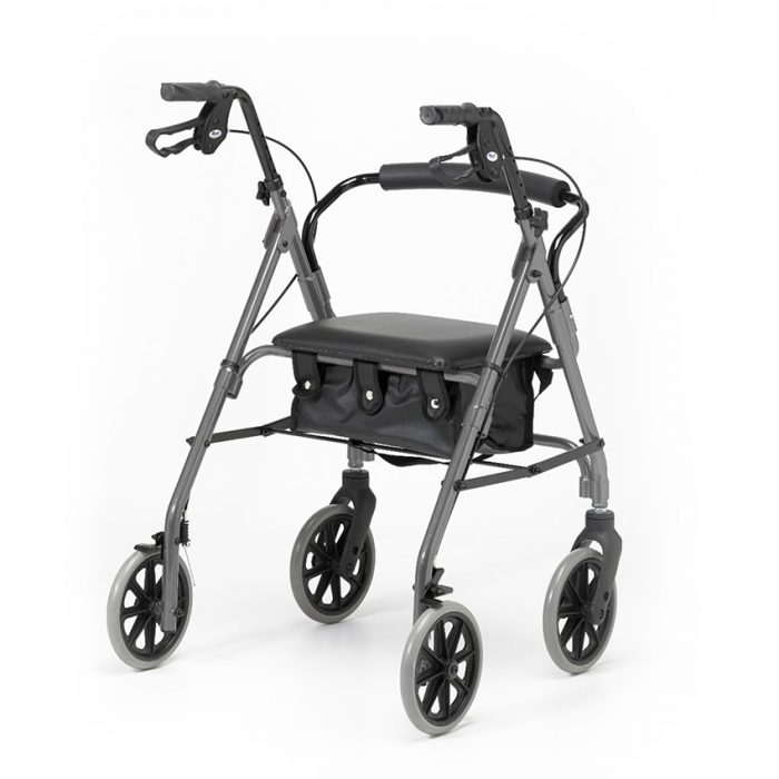 Rear view of Days 100 Rollator Silver Frame