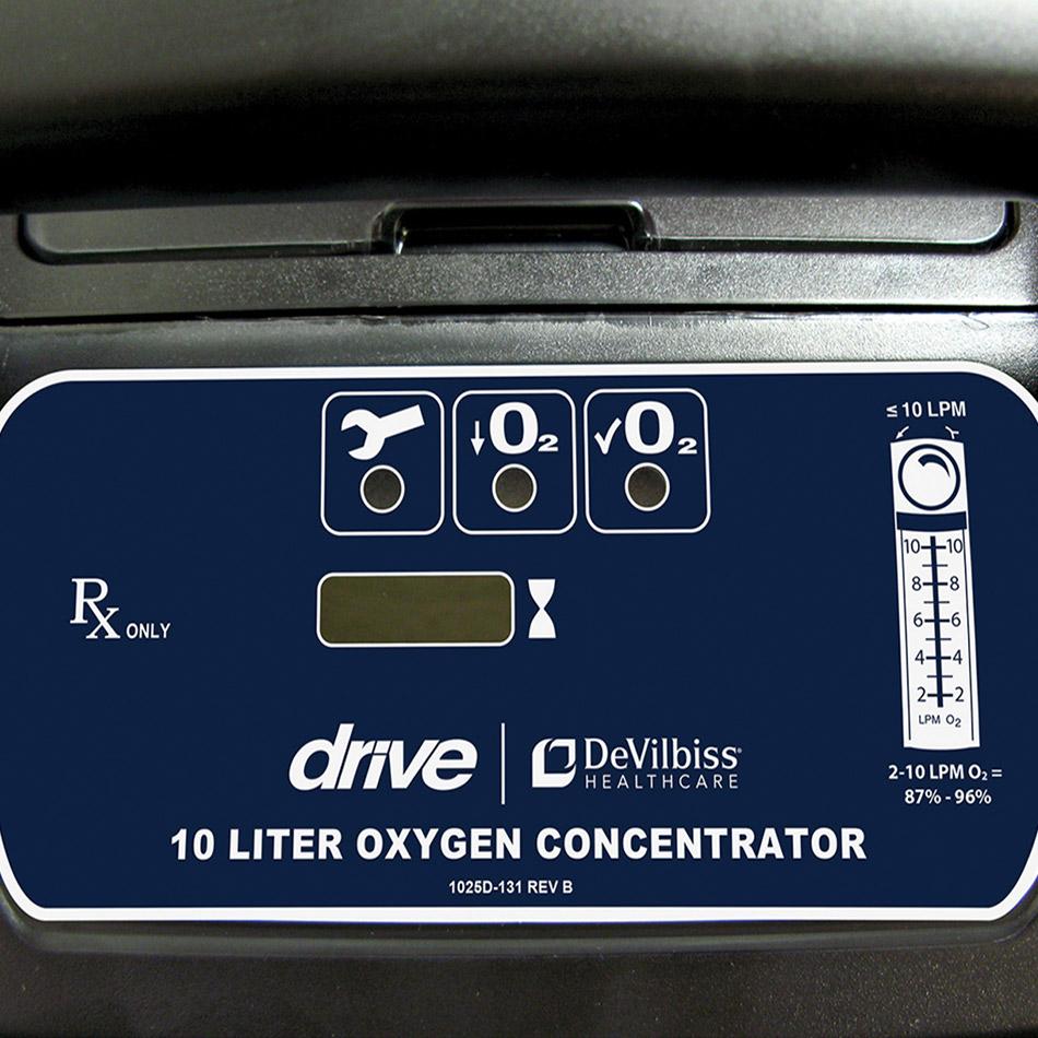 Devilbiss Oxygen Concentrator Face Indicators