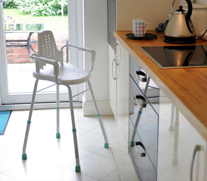 Household Perching Stool use in Kitchen