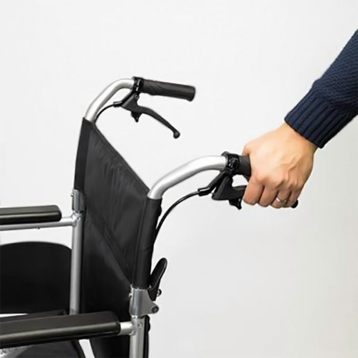 Wheelchair Attendant Handles with Brakes