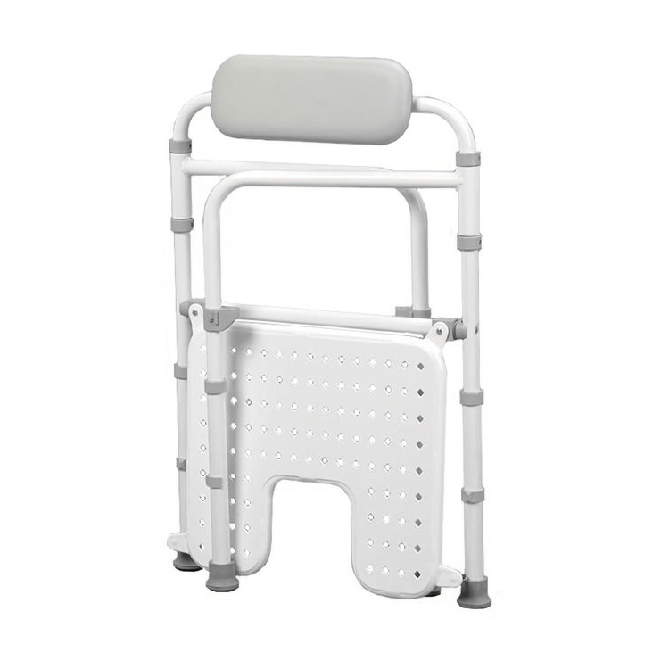 Folded closed shower chair