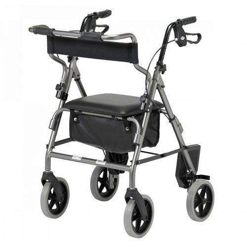 Silver rollator transfer chair